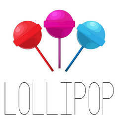 Lollipop set of three candies vector