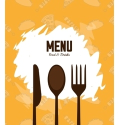 Menu and restaurant design vector image