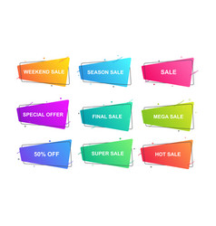 modern geometric banner for sales promotion vector image