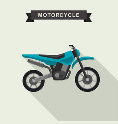 motoctoss enduro bike vector image