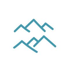 Mountains peak symbol icon or logo vector