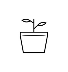 nature plant branch icon vector image vector image