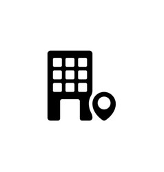 office location icon vector image
