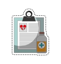 Order medical isolated icon vector
