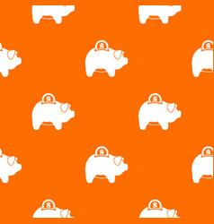 pig money box pattern seamless vector image