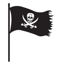 pirate black flag icon vector image