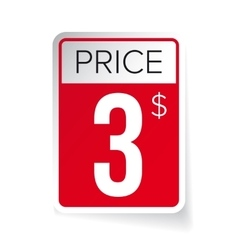 Price Tag sticker - Three usd vector image