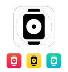 Remote controller on smart watch icon vector