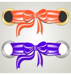 ring and bow vector image