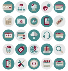 SEO and Marketing Icons Set1 vector image