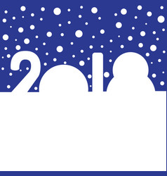 Snowdrifts in the shapes of digits 2018 vector
