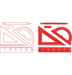 Stationary Ruler Set vector image