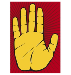 Stop Hand vector image