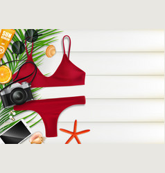 top view on summer travel concept template vector image