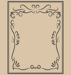 vintage frame on light background design element vector image