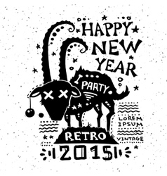 Vintage grunge New Year label vector