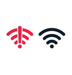 wireless wifi icon no signal and signal vector image