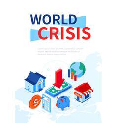 world crisis - modern colorful isometric web vector image