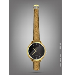 Wristwatches - golden vector