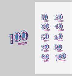 Years anniversary set template design vector