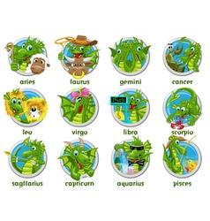 Zodiac set isolated vector image