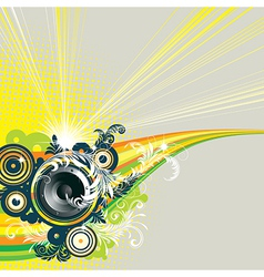 7floral line 90 2 vector image vector image