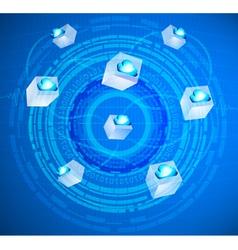Cloud circling provider vector