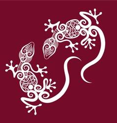 Decorative geckos vector image vector image
