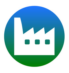 factory sign white icon in vector image