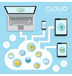 infographics device cloud vector image