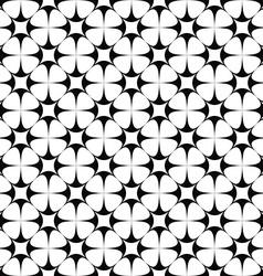Monochrome seamless star pattern design vector image vector image