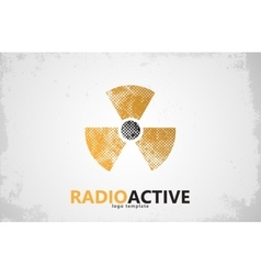 Nuclear logo radioactive logo design radiation vector