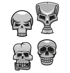 Set of monster skull mascots vector image