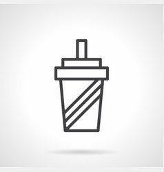 shaker simple line icon vector image vector image