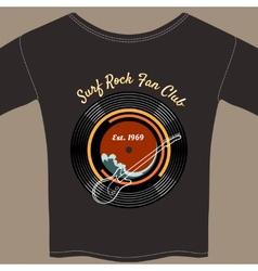 Surf Rock tee shirt vector image