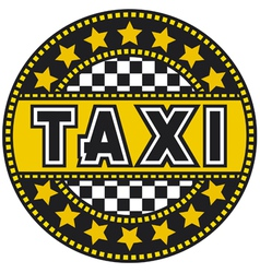 taxi label vector image vector image