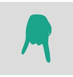 Baseball catcher gesture icon vector image