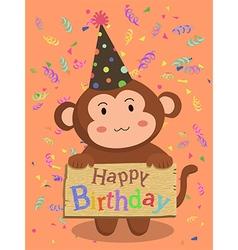 Birthday Monkey Cartoon vector image