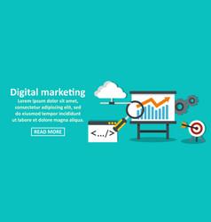 digital marketing banner horizontal concept vector image vector image