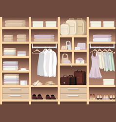seamless background with wear and accessories vector image