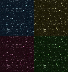 Glossy halftone rounds Stylized stars in the night vector image vector image
