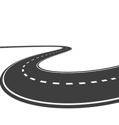 highway isolated on a white background vector image
