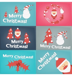 Merry Christmas Greeting Poster Set vector image vector image