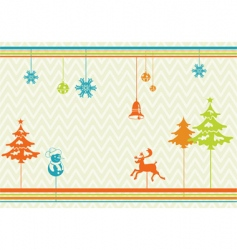 stylized christmas background vector image vector image