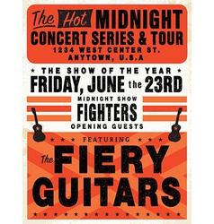 Vintage concert posters vector image