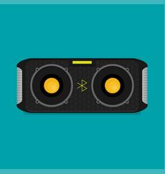 flat bluetooth speakers vector image vector image