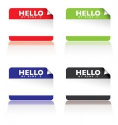 hello name tags vector image vector image