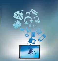 laptop electronic burst vector image
