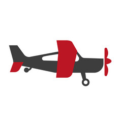 Small red and black airplane vector