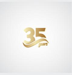 35 years anniversary celebration elegant gold vector